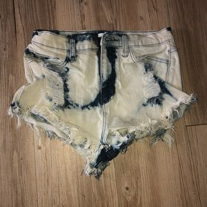 Sneak Peek Dyed Jean Shorts